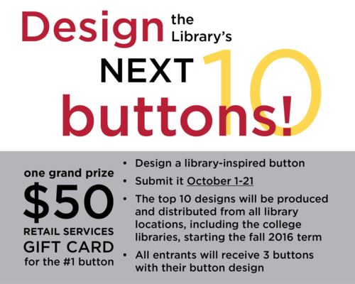 Design the Library's next 10 buttons!