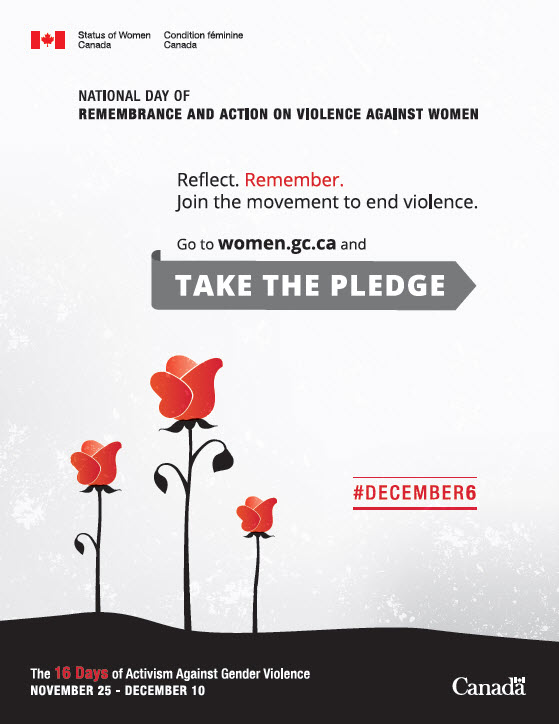 The 16 Days of Activism Against Gender Violence poster