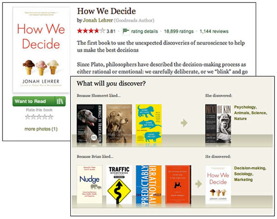 Web interface for goodreads