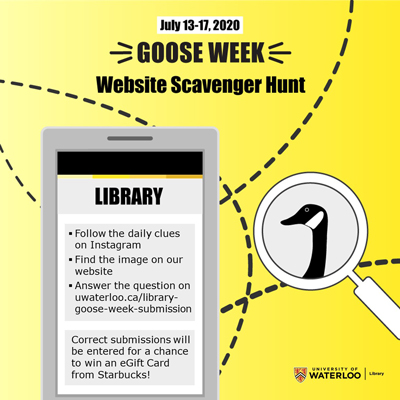 Goose Week website scavenger hunt