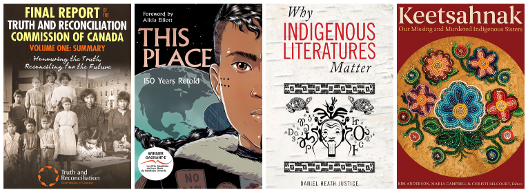 Indigenous book covers