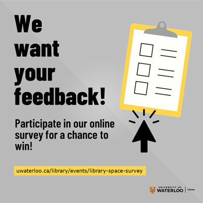 We want your feedback! Participate in our online survey for a chance to win!
