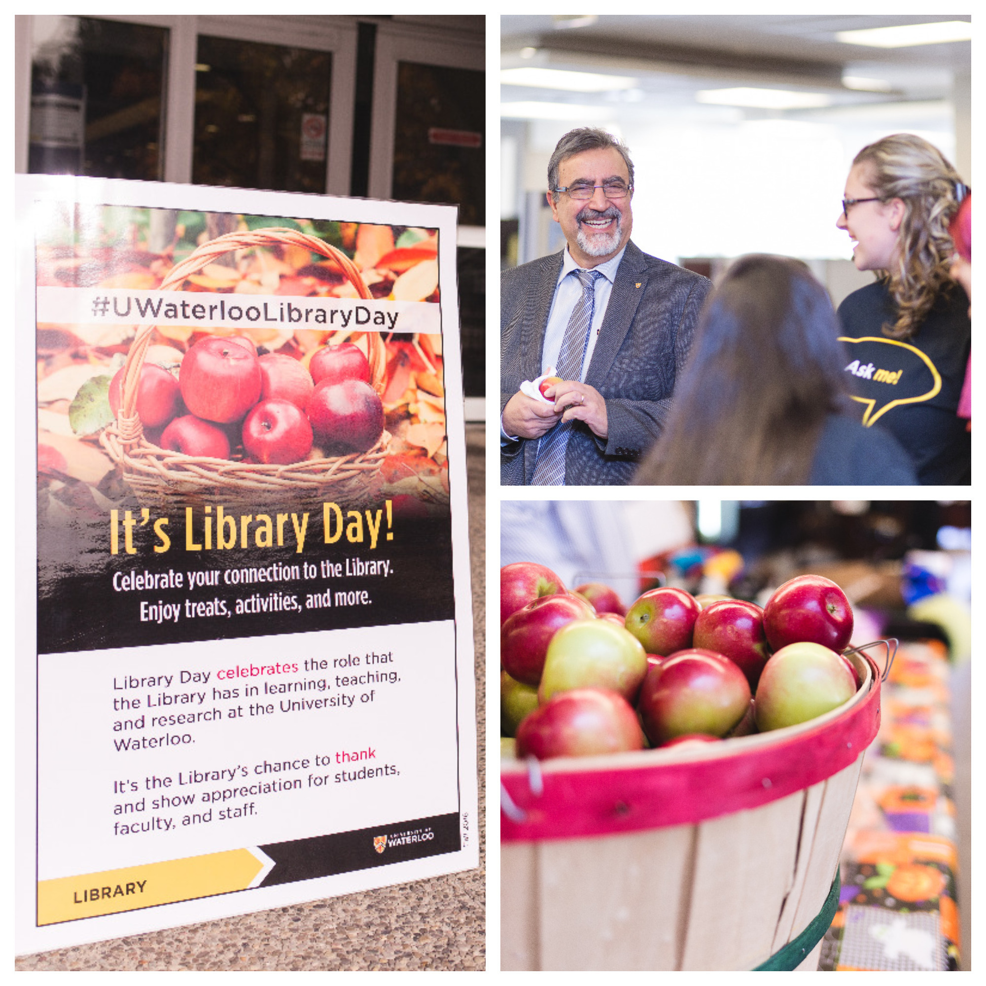 Collage of Library Day photos