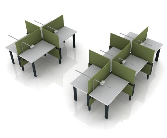 green desks