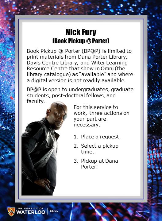 Nick Fury (Book pickup @ Porter)