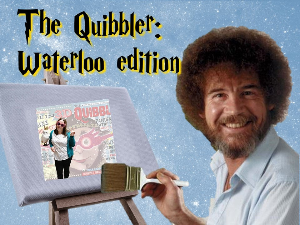 Bob Ross painting a Quibbler