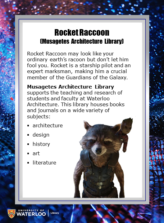 Rocket Raccoon (Musagetes Architecture Library)