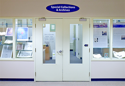 Special Collections & Archives entrance