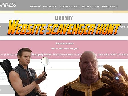 website scavenger hunt