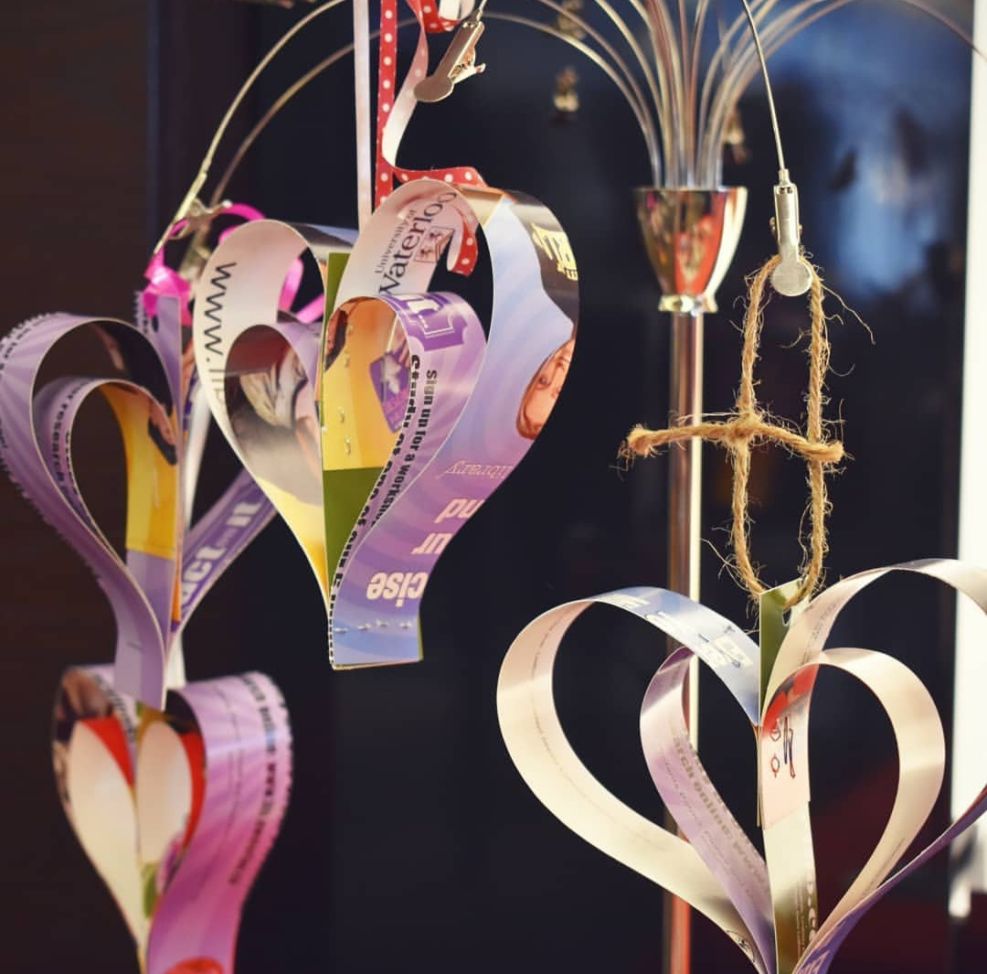 Example of paper heart craft