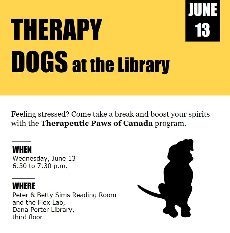 Therapy dogs event poster