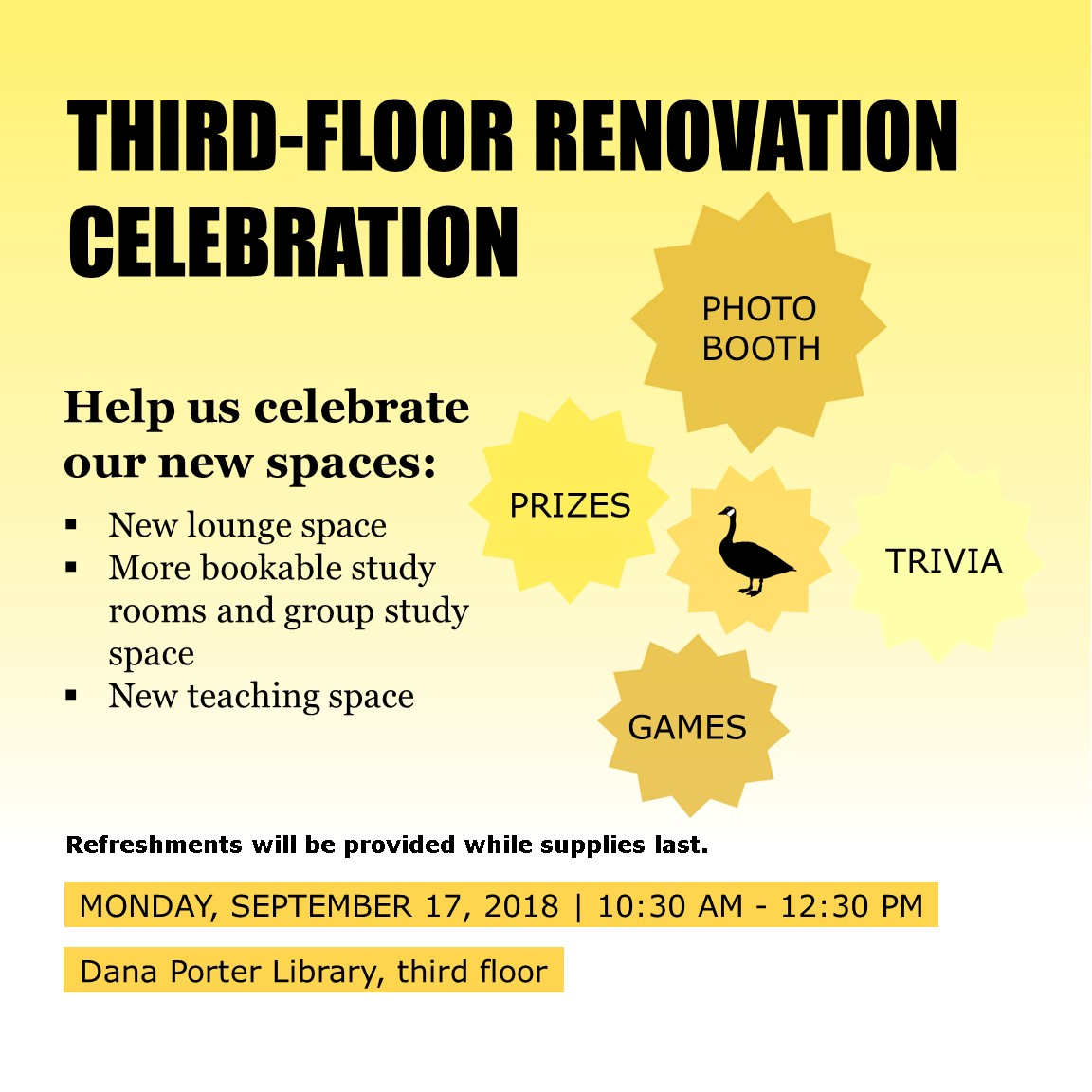 Third-floor renovation celebration
