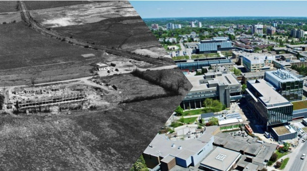 Waterloo campus then and now