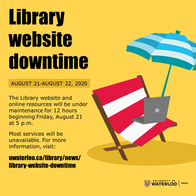 Website downtime August 21 to August 22