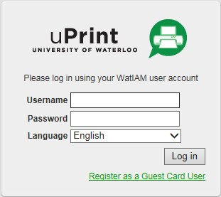 uPrint guest account