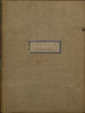 Front cover of Housewifery notebook.