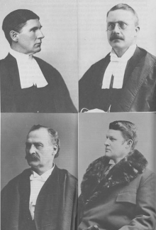 Counsel and judge of Shortis case; and Minister of Justice.