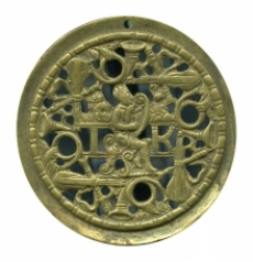 Medallion of lute player