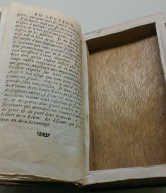 Interior of book used for smuggling