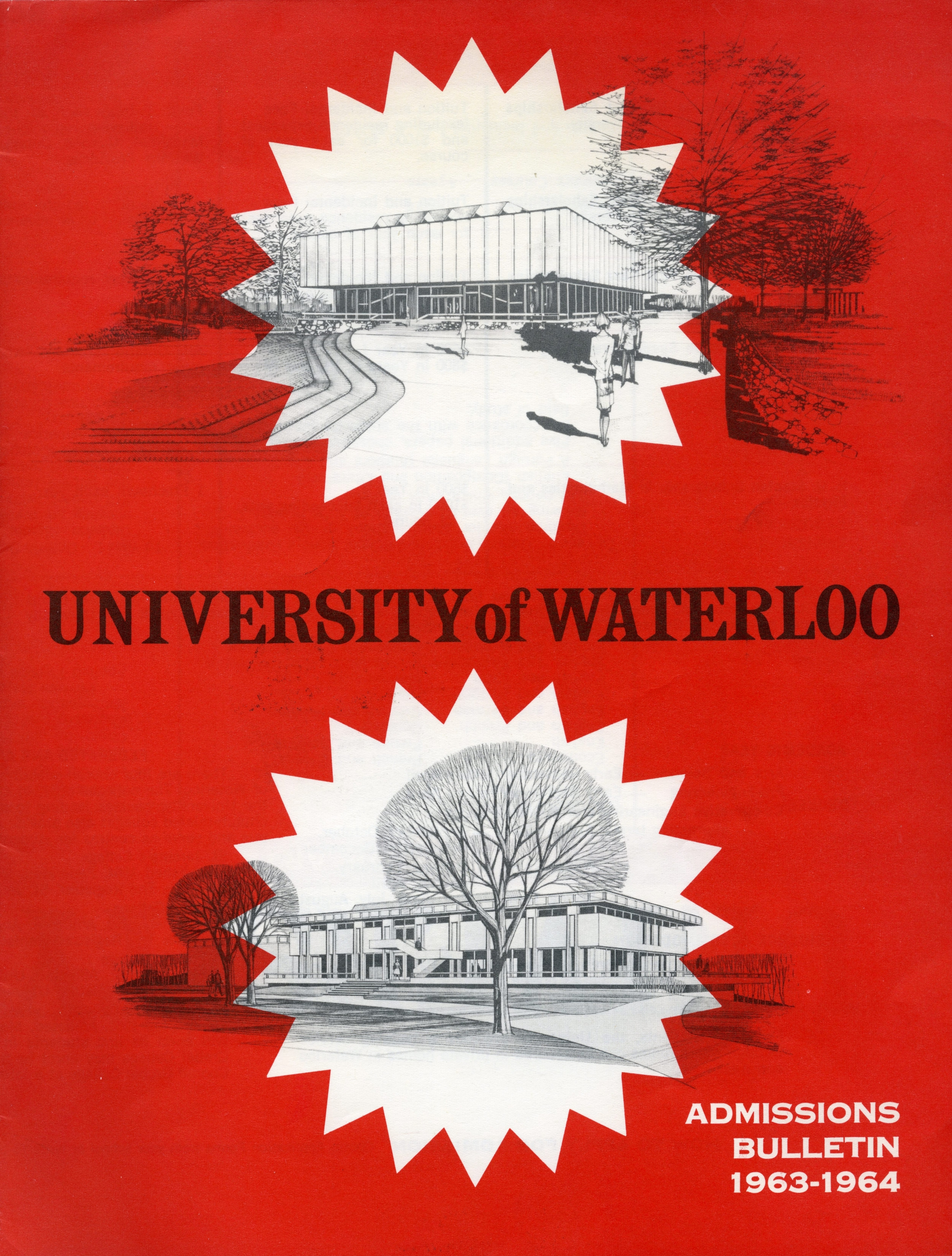 Front cover of Admissions brochure of 1963.