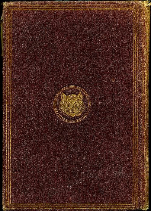 back cover showing Cheshire cat