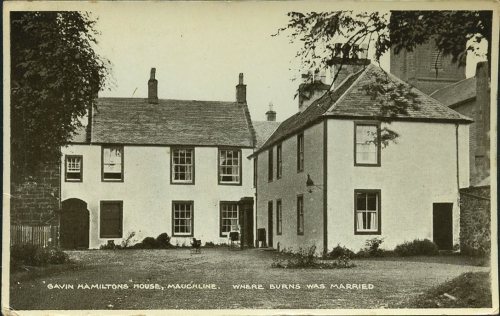 Postcard of Burns' home in Mauchline