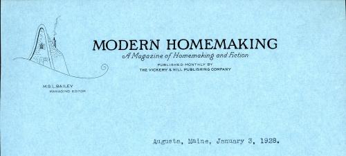 Moden Homemaking letterhead
