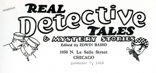 Real Detective Tales letterhead
