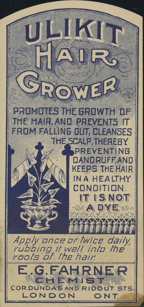 Label from Ulikit Hair Grower
