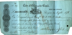 Bank of Glasgow note