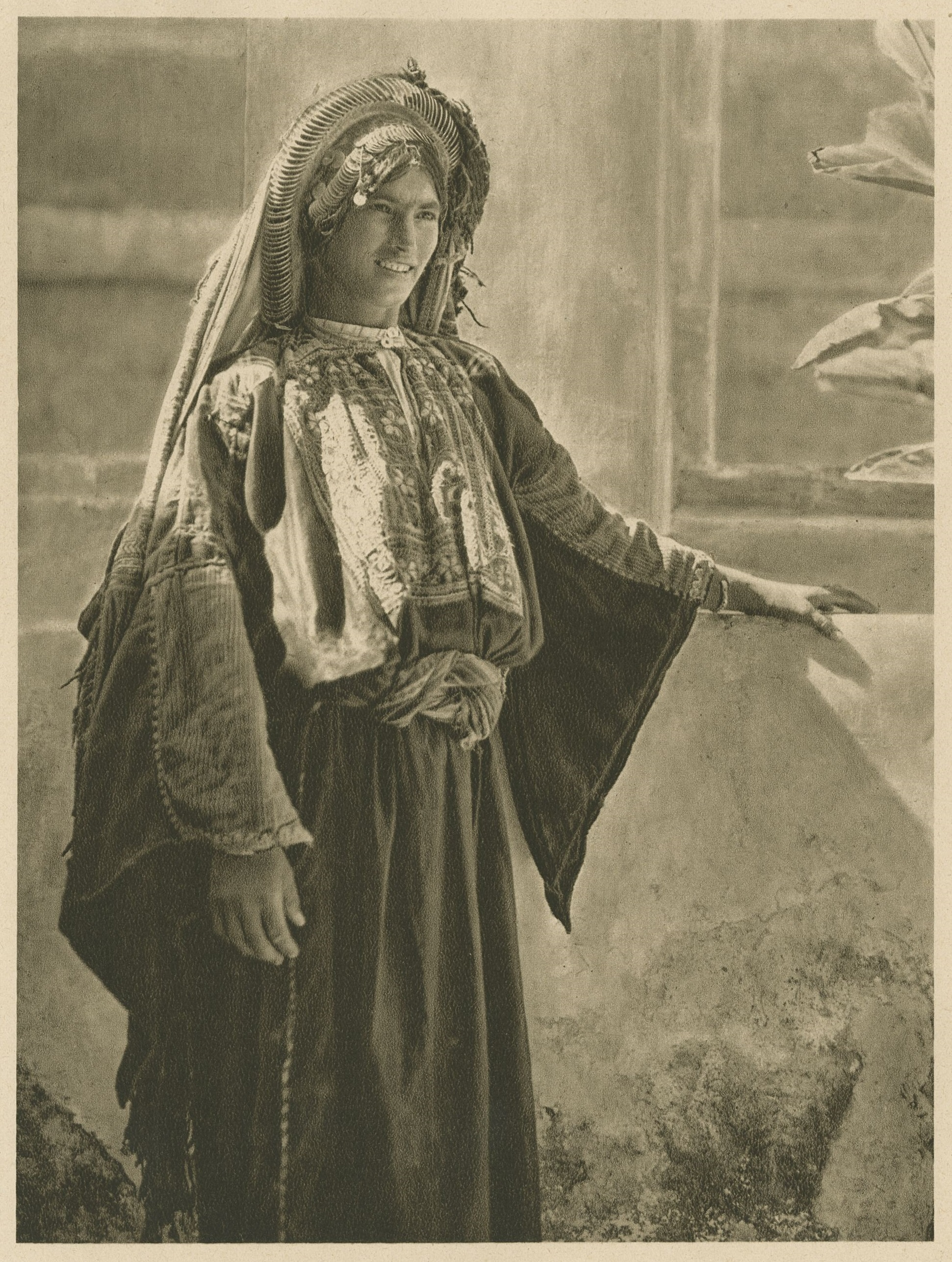 Woman wearing traditional Palestinian clothing