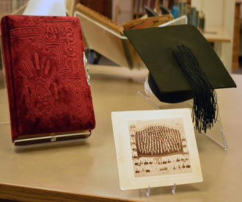 Mortarboard, photograph and photo album