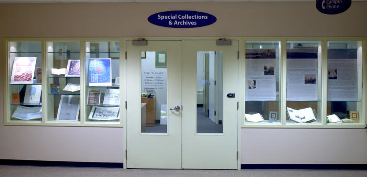 View of entrance to Special Collections & Archives