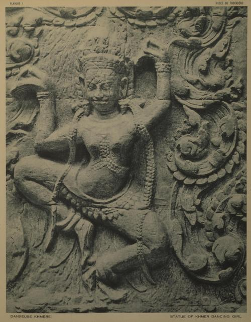 A bas-relief of a dancer on Angkor Wat.