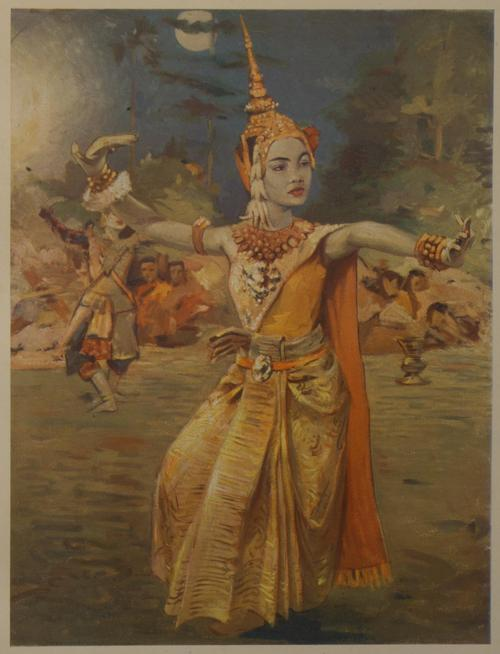 Illustration of a dancer dressed in full costume.