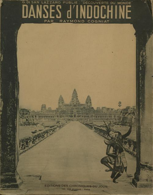 Book cover depicting a dancer in front of Angkor Wat.