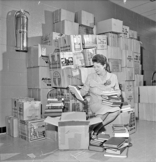 Doris Lewis processing the Lady Aberdeen collection