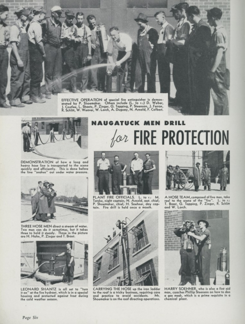 Naugatalk Men drill for Fire Protection