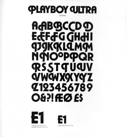 The Playboy Ultra typeface