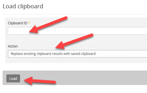 Load clipboard form with fields highlighted