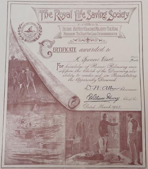 Rescue first aid certificate