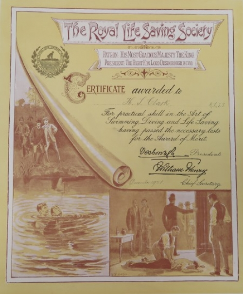Swimming first aid certificate