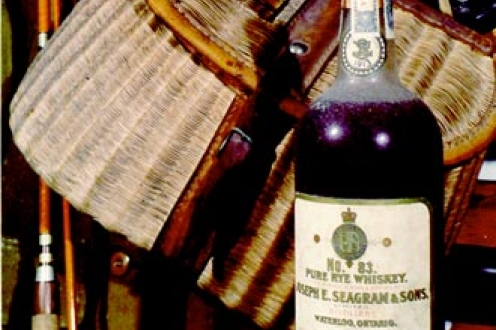 Seagram pure rye whiskey.