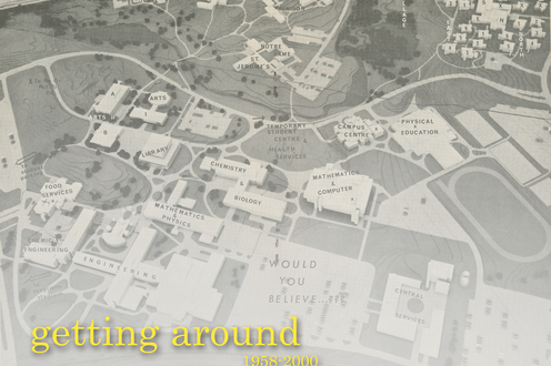 A map of the university of Waterloo with title text in the bottom left corner