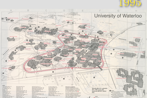 A map of campus in 1995