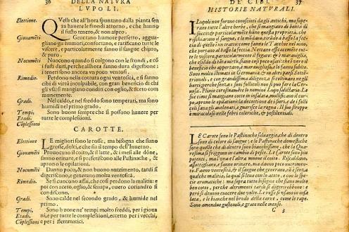 Trattato Della Natura De' Cibi E Del Bere page 36 to 37.