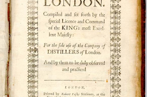 The Distiller of London: front page.