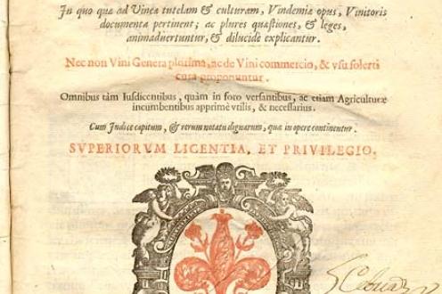 Tractatus De Vinea, Vindemia, Et Vino
