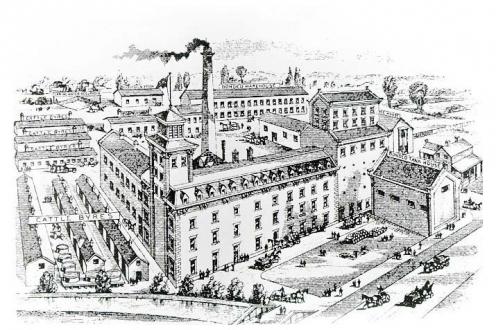 Illustration: birds-eye view of Seagram's.