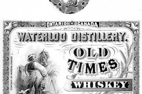 Old Times whiskey label.